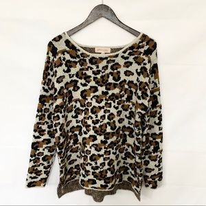 Philosophy Leopard Print Cozy Pullover Sweater